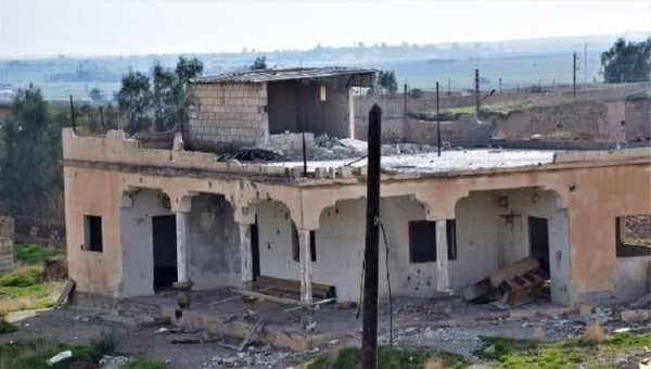 Damage to houses in Talla and Dashisha villages outside Tel Tamr in North and East Syria caused by Turkish artillery on 12 February 2021. (Image: Vedeng)